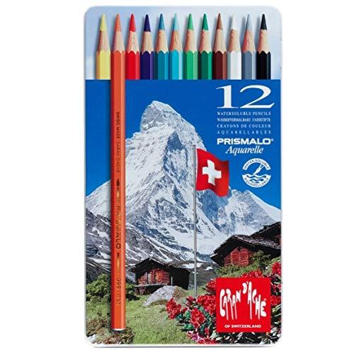 Lápis Aquarelável Caran D'Ache Prismalo 12 Cores, Caran D'Ache, 0999312, 12 Cores