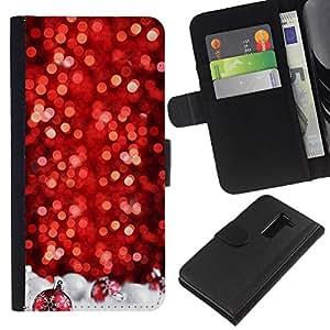 KLONGSHOP // Tirón de la caja Cartera de cuero con ranuras para tarjetas - Nieve del árbol de navidad Invierno - LG G2 D800 //