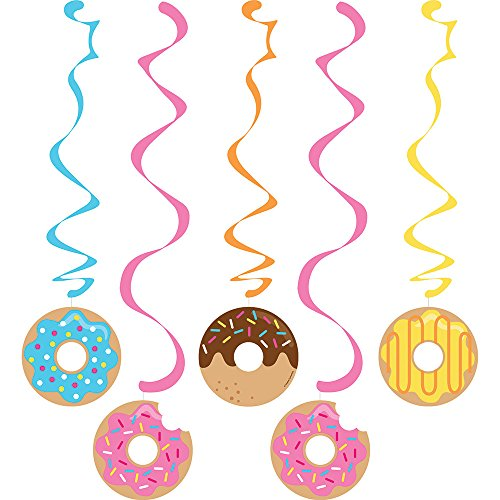 Creative Converting 324238 Donut Party Dizzy Danglers, Multisizes, Multicolor ()