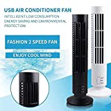 1PC Portable Mini Usb Fan Durable Bladeless No Leaf Air Conditioner Cool Desk Tower shipping from USA