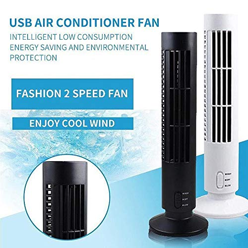 1PC Portable Mini Usb Fan Durable Bladeless No Leaf Air Conditioner Cool Desk Tower shipping from USA by CLKjdz