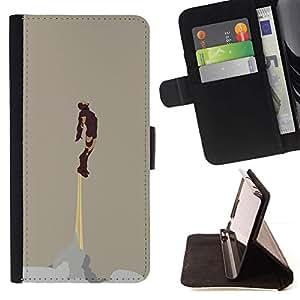 Momo Phone Case / Flip Funda de Cuero Case Cover - Motivación Flying Soaring Dios - Samsung Galaxy S6