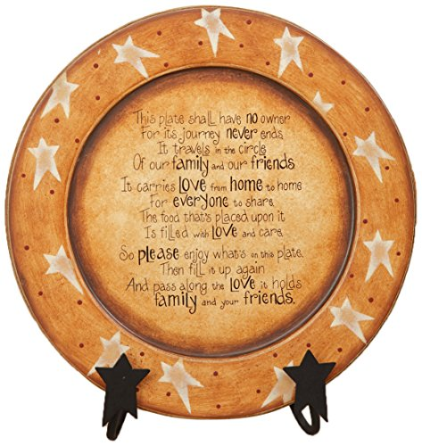 Your Hearts Delight Pass Along Poem Wooden Plate, 11-3/8-Inch