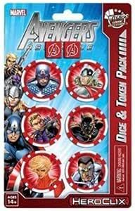 El pack contiene dos dados personalizados con el logo de los Vengadores y seis marcadores representando a sus personajes.: Amazon.es: Juguetes y juegos