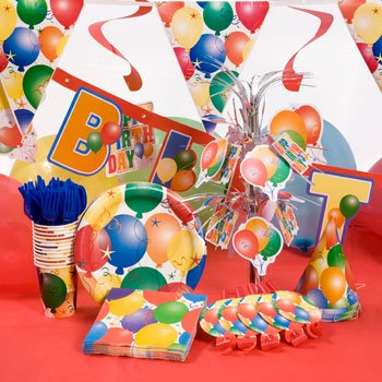 TBC HOME DECOR® Standard Balloon Theme Party Kit In A Box for 12 guests by TBC HOME DECOR