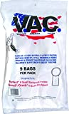 VACUUM AMERICA CLEAN VAC 19 PERFECT/BISSELL/ORECK 6 Quart Backpack H-10 HEPA Filtration (Pack of 9)