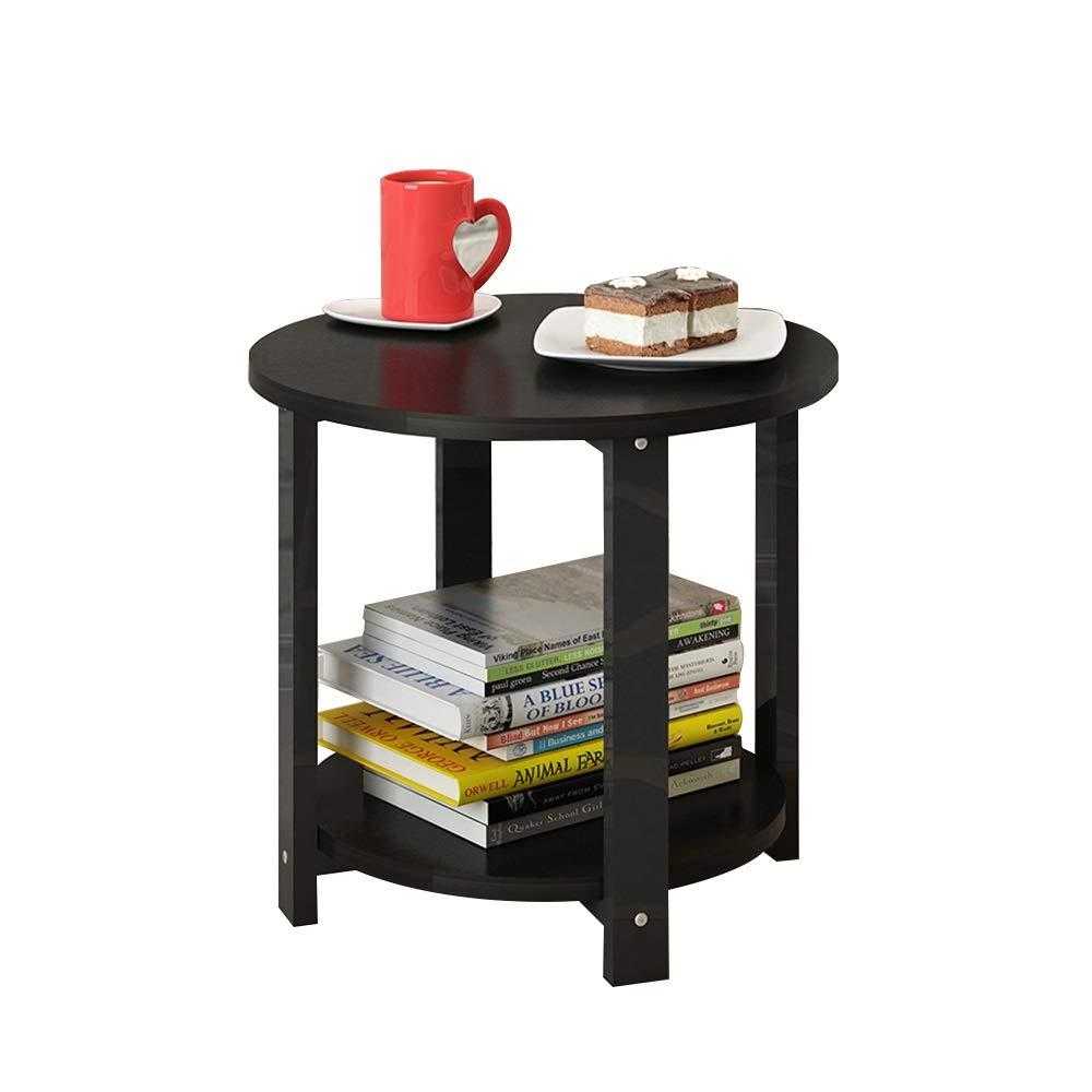 テーブル 小さい円形のテーブル、居間のバルコニーのための純木の別れの乱雑な二階建ての小さいコーヒーテーブル (サイズ さいず : 20*20*17.2 in) B07PVHMX9C  20*20*17.2 in
