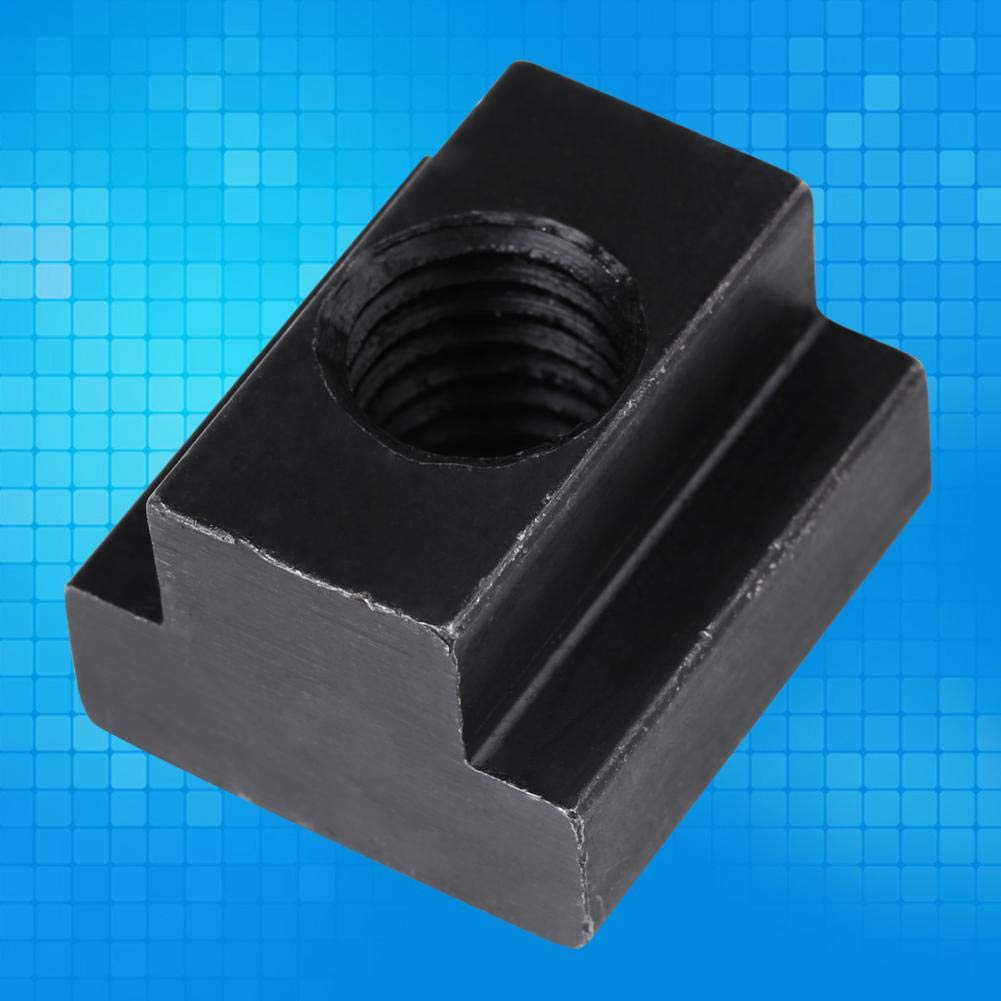 Nitrip 5 pcs Black Oxide Finish T Slot Nuts M12 Threads Fit Into T-Slots in Machine Tool Tables