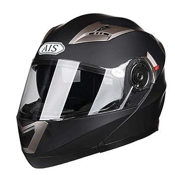 Cascos Modulares De La Motocicleta Bluetooth Headset AIS Abatible Cascos De Touring Equipados De Doble Altavoz