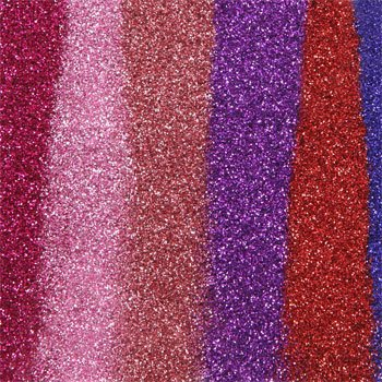 Crafter's Square Superfine Glitter, CASE OF 8 X 6-ct. Packs. A beautiful rainbow of colors for crafts, scrapbooking, scool projects and more by TBC Home Decor