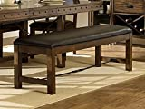 Rustic Turnbuckle Dining Room Furniture in Burnished Oak (Dining Bench)