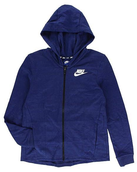 Nike W NSW Av15 Jkt Knt Chaqueta, Mujer, Azul (Binary Blue ...