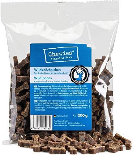 Chewies Hundeleckerli Wild enkeltjes125 gtrainingslekkernij voor hondenvleessofties zonder suikerhondensnacks met hoog vleesgehalte