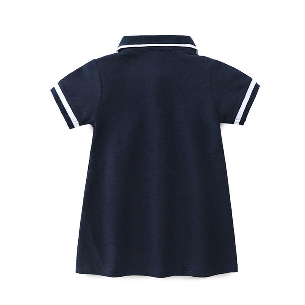 MAOMAHREWW Kids Baby Girls Short Sleeve Uniform Polo Shirt Dress Performance Jersey