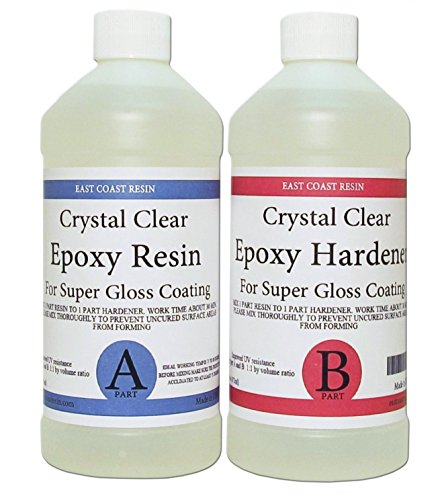 - EPOXY RESIN CRYSTAL CLEAR 16 oz Kit. FOR SUPER GLOSS COATING AND TABLETOPS