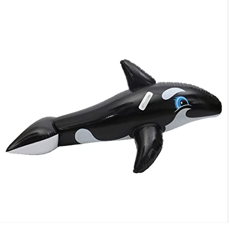 Baiyouli Inflable Flotador de Tiburón Piscina Floatie Balsa Diversión de Verano Piscina Juguete Playa Fiesta Verde