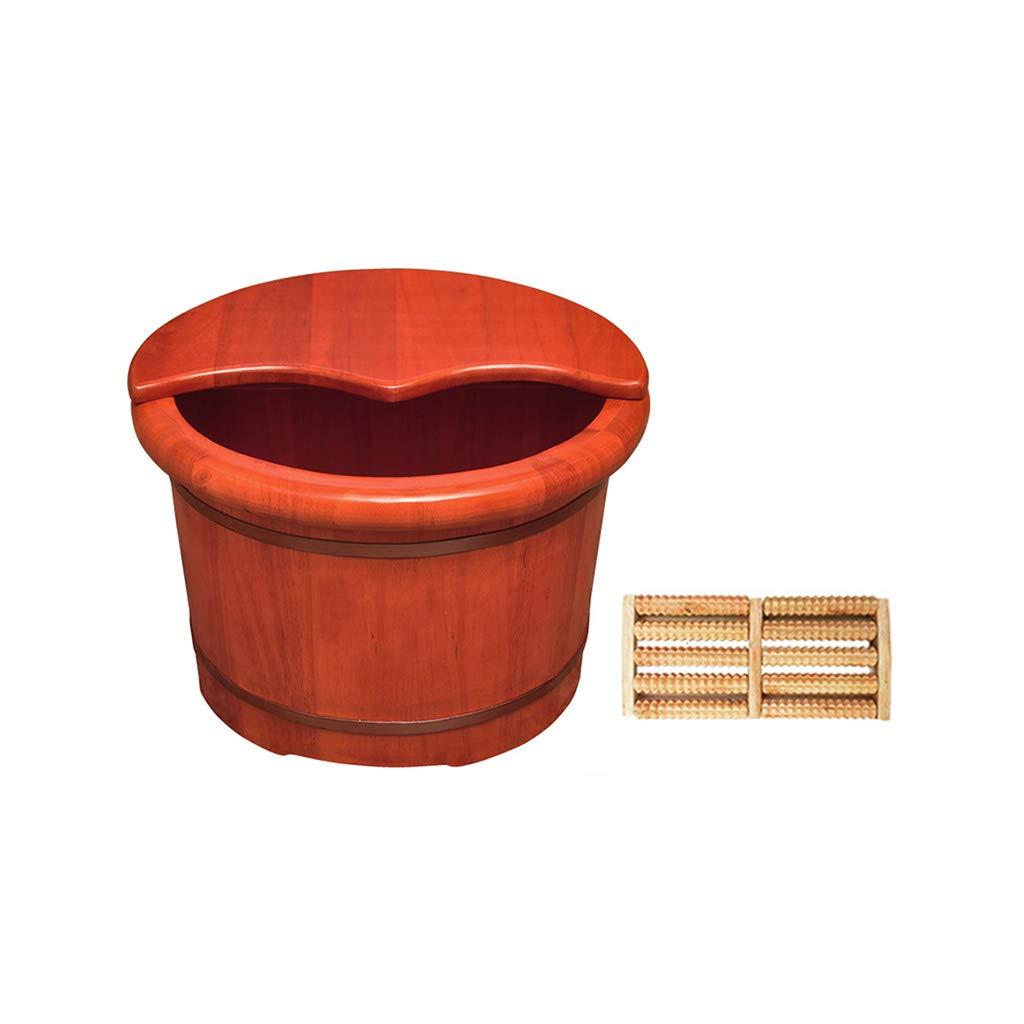 LIZHIQIANG 純木製の足浴槽 B07MSHM4JD、ペディキュアスパオークの樽、ペディキュアボールスパマッサージペディキュアバレル、家庭用フットバスバレル、木製フット盆地、ふた付き B07MSHM4JD, ギャレリア Bag&Luggage:48a22f25 --- lembahbougenville.com
