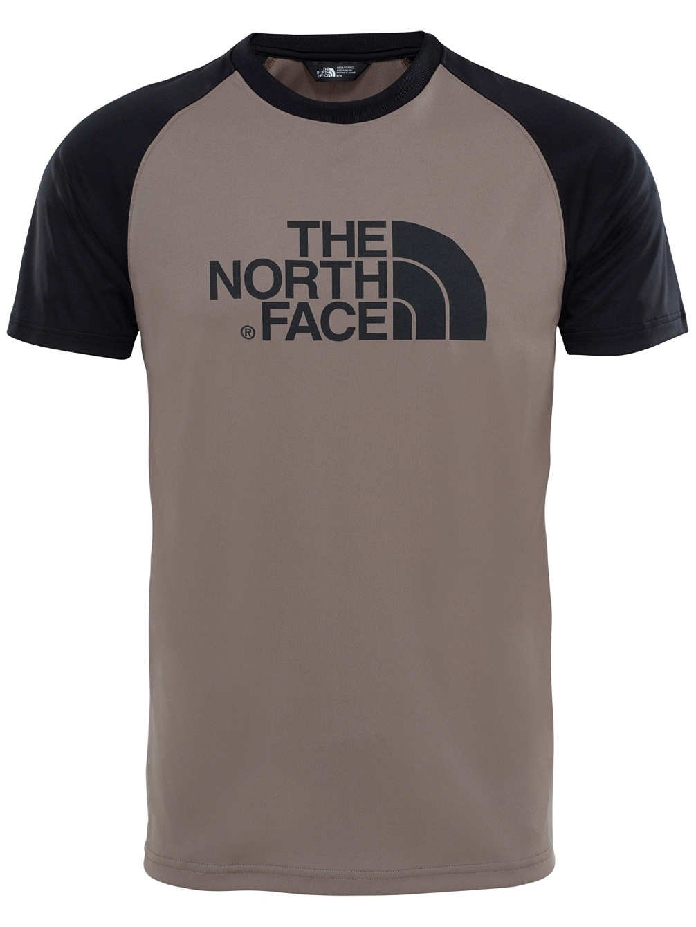 North Face M MC S/S Raglan tee - Camiseta, Hombre, Marrón - (Falcon Brown) The North Face