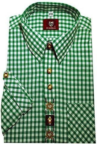 Trend-Promotion Austria Camisa Verde Blanco a Cuadros con Bordado krempel Brazo y cómodo Orbis 0104 M hasta 6 xl