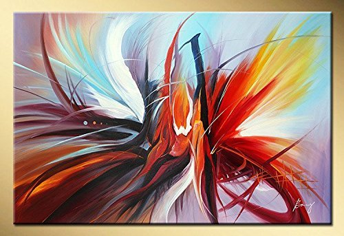 Large Abstract Canvas Wall Art Modern Oil Painting Picture Contemporary Artwork for Home Decoration Stretched Ready to Hang (Framed 4836 inch) by Seekland Art (Image #1)