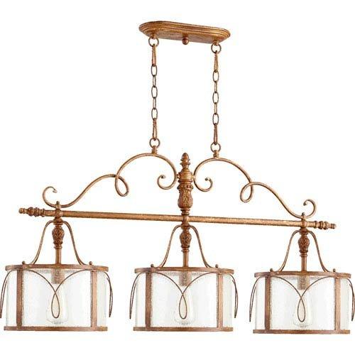 Mill & Mason Bouverie Soft Umber Three-Light Island Pendant (Light Kitchen Island Umber)
