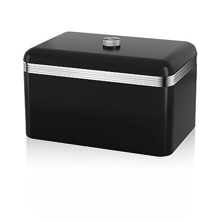 Cisne Negro Cocina Electrodoméstico Retro Juego de 9 - Digital Microondas,20 Litros,800 Vatios,1.7 Litro Pava con Cúpula & Estilo Tostadora 4 Rebanadas ...