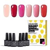 Lagunamoon Gel Polish UV LED Soak Off Varnish Lacquer Manicure Pedicure Nail Polish Sets Beauty Salon Nail Arts Kits 6pcs