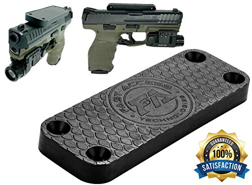 Fast Access Magnetic Gun Mount | Gun Magnet Mount Accessory - Strong Tac Magnet is Rubber Coated to Protect Your Firearm - Includes All Mounting Hardware and VHB Tape for Easy Installation