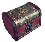 niceEshop(TM) Brown Retro Old Stye Embossed Flower Wooden Jewelry Box Case for Women