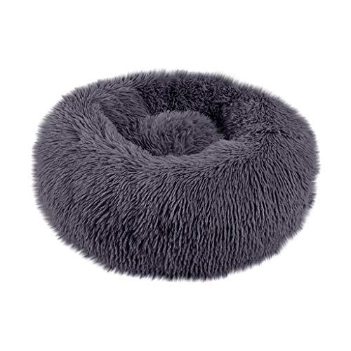Yowablo Hund Runde Katze Winter Warmer Schlafsack Langes Plüsch Weiches Haustierbett Beruhigendes Bett