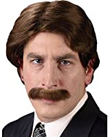 Wig And Mustache Set 70S