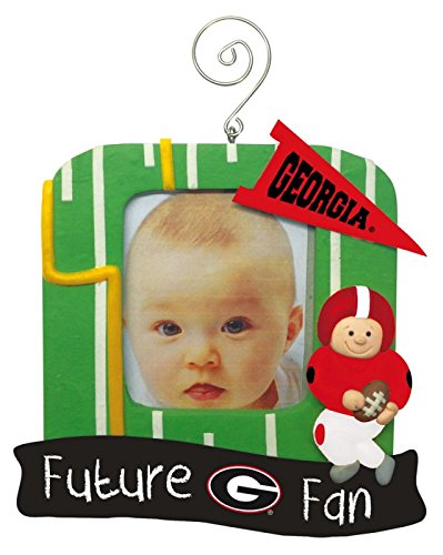 Georgia Bulldogs Official NCAA 5 inch x 5 inch Future Fan Photo Frame Christmas Ornament by Evergreen 166846 by Fans With Pride