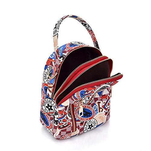 Tre usi Borse Piccolo Wild D Multifunzione Stampa Zlulu Bag Mini A Zaino Frizioni Messenger Handbag Portafogli WxFqHYf