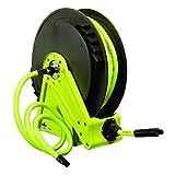Flexzilla Performance Series Air Hose Reel, 3/8 in. x 50 ft., Heavy Duty, Lightweight, Hybrid, ZillaGreen - L8011FZ