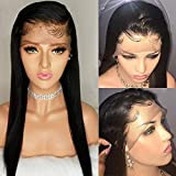 Lace Front Wigs Virgin Human Hair 150 Density 13x6 Full Lace Human Hair Wigs with Baby Hair Pre Plucked Natural Hairline Long Straight Lace Wigs for Black Women (14 inch, 13x6 lace front wig)
