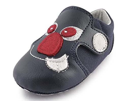Navy Baby Girl Pram Shoes - 6