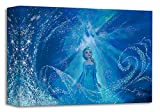 Disney Fine Art Treasures on Canvas One with the Wind and Sky Frozen Elsa 11 x 17 inch Wrapped Canvas