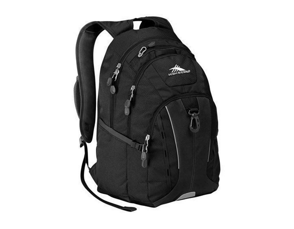 High Sierra Riprap Deluxe Padded Backpack Laptop Mp3 Cell Phone Pockets (New Black)