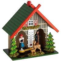 Carmesin.com GmbH TFA48.1501 Thermomètre avec Indication des prévisions météo Petite Maison en Bois