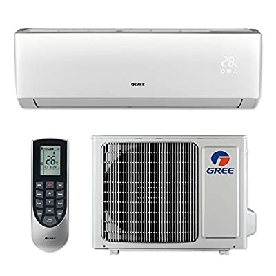 Gree LIVS09HP115V1B - 9,000 BTU 16 SEER LIVO+ Wall Mount Ductless Mini Split Air Conditioner Heat Pump 115V