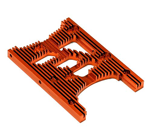 Integy RC Model Hop-ups T6978ORANGE HD Engine Heatsink Plate for HPI Savage XL & X 4.6 RTR