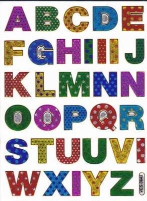 Letras De Coloures Abc Etiqueta Digitos 18 Mm Hoja 135 Mm X 100 Mm