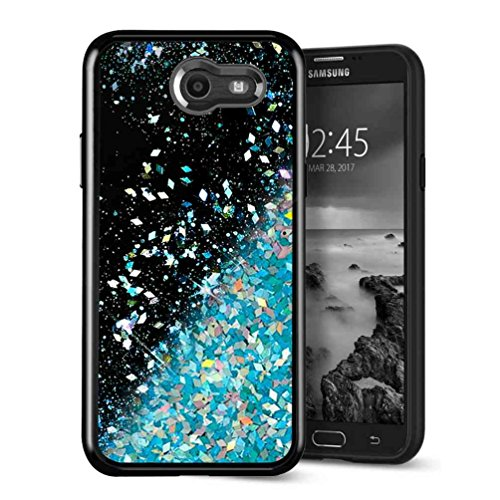 Galaxy J3 Emerge Case, SuperbBeast Fashion Bling Liquid