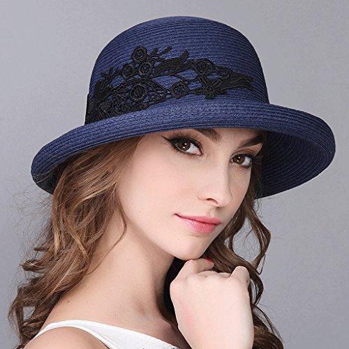 Estate Sole Viaggio Red Zhaoshunli Da Cappello colore Parasole Blue ZqwdaFxF