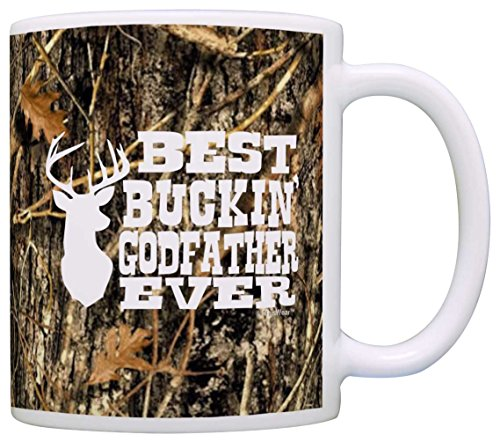 Baptism Gifts Best Buckin' Godfather Ever Deer Hunting Gift Coffee Mug Tea Cup Camo (Unique Christening Gowns)