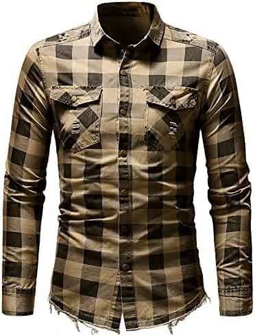 Bafaretk Men V Neck Solid Tops Autumn Casual Long Sleeve Henry Collar Button Slim T-Shirt
