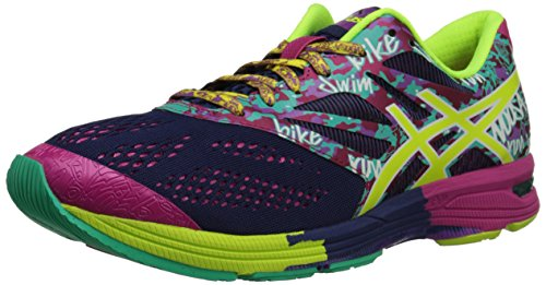 ASICS Women's GEL-Noosa Tri(tm) 10 Navy/Flash Yellow/Hot Pink Sneaker 7 B - Medium