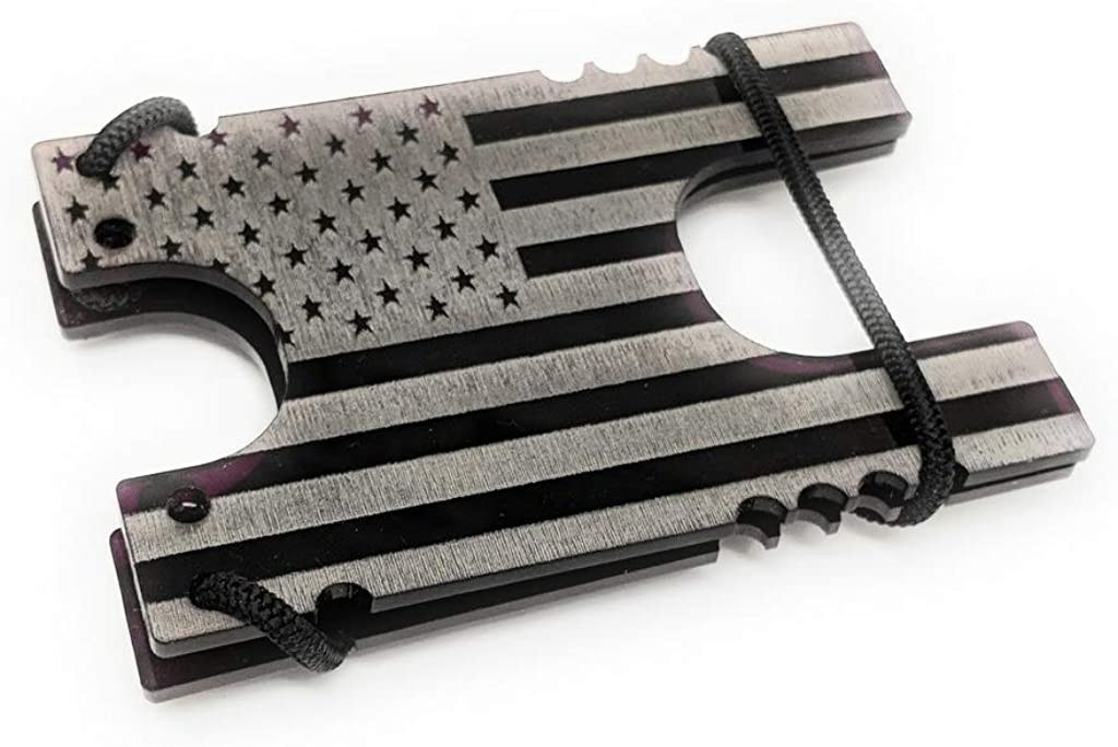 Tactical Shock Wallet EDC American Flag NEW