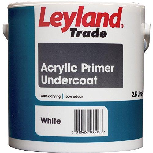 Leyland Trade Acrylic Primer Undercoat White 2.5L