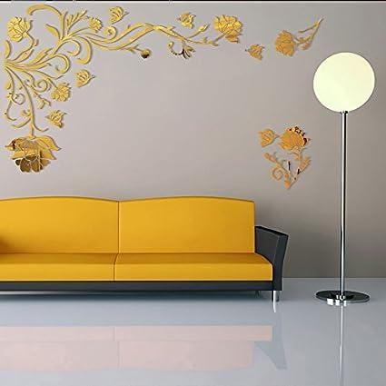 Amazon Com Jmhwall 3d Flower Rattan Wall Stickers Home Decor Living